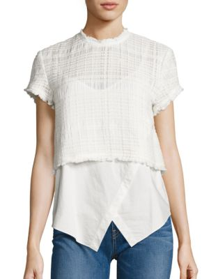Two-in-One Cotton Top by Derek Lam 10 Crosby