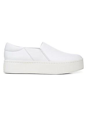 4a8f8cbded9bfd Vince - Weadon Leather Knit Platform Sneakers - saks.com