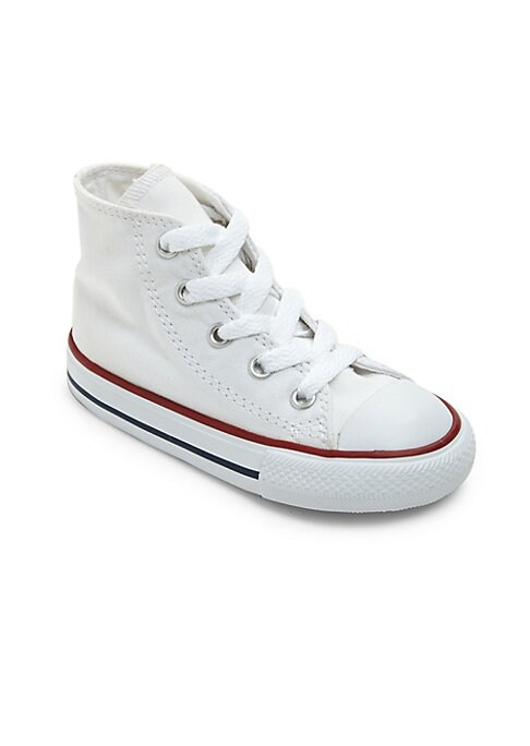 Image of Classic-cool high-top sneaker cast in casual canvas. Canvas upper. Round toe. Lace-up vamp. Cotton-canvas lining. Rubber sole. Imported.