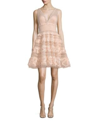 Textured Tulle A-line Dress