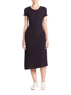 Jilaena Ruched Midi Dress