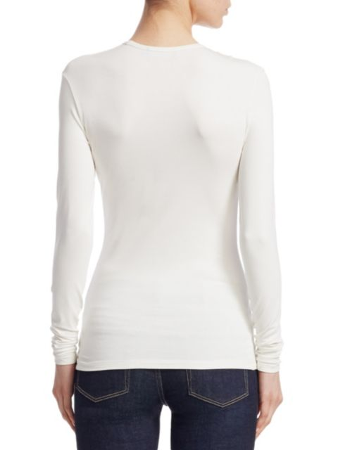 Ralph Lauren Collection Iconic Style Long-Sleeve Top | SaksFifthAvenue