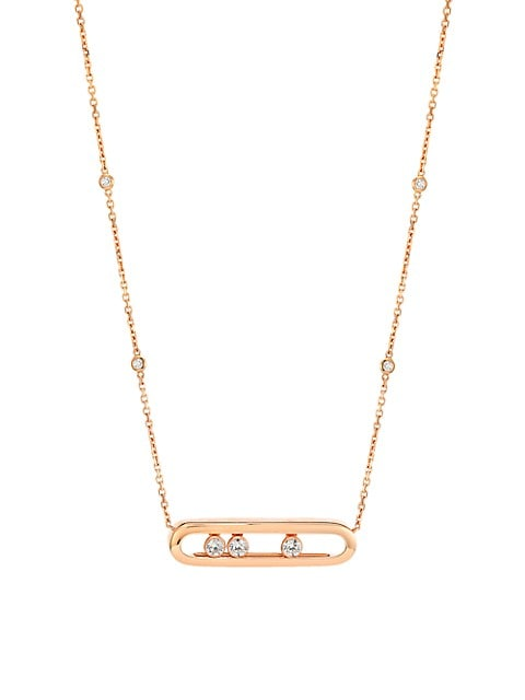 Move Diamond & 18K Rose Gold Necklace