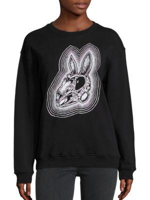 Classic Rabbit Skull Sweatshirt by McQ Alexander McQueen