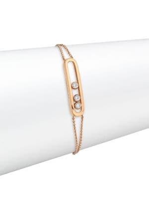 Messika Move Classic 18K Rose Gold & Diamond Bracelet