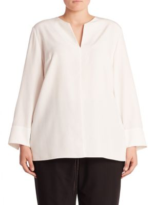 Silk Blend Blouse by Lafayette 148 New York, Plus Size