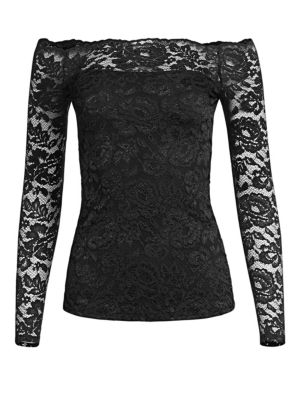 Heidi Off-the-Shoulder Lace Top by L'AGENCE