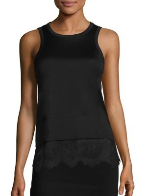 Buy Carven Lace Bottom Cotton Tank online with Australia wide shipping