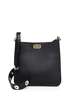 Product image. #. p. MICHAEL MICHAEL KORS. Textured Medium North South  Leather Messenger Bag