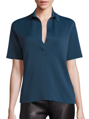 Sponge Polo Top by Helmut Lang