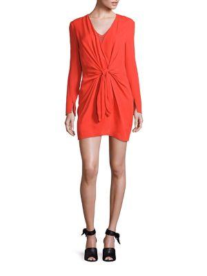 3.1 PHILLIP LIM Silks Silk Tie-Front Dress
