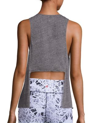 Pacific Heathered Tie-Back Tank Top by Vimmia