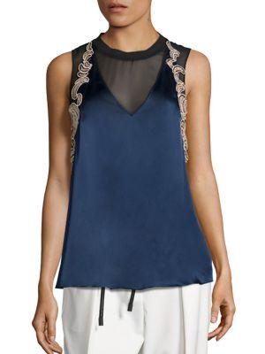 Silk Sequin Applique Top by 3.1 Phillip Lim