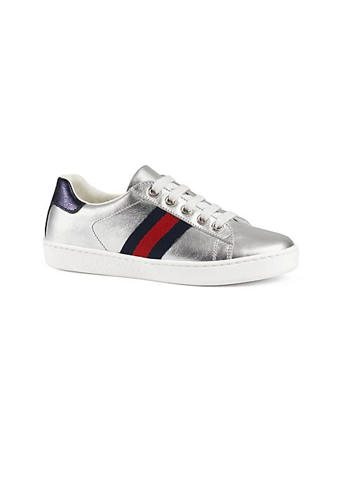 Gucci Leather Metallic Shoes