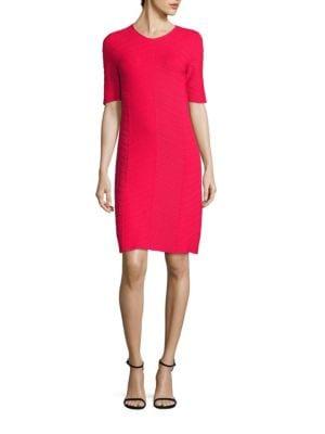 Farsiris Textured Herringbone Dress by BOSS