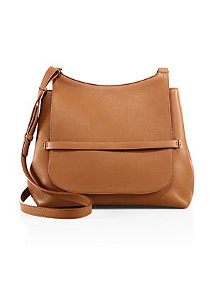 The Row Sideby Grained Leather Shoulder Bag
