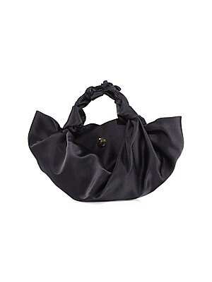 The Row - Small Ascot Satin Hobo Bag - saks.com 63bddb2dcde46
