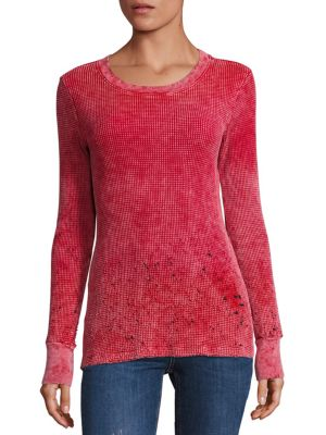 The Monaco Distressed Thermal Top by Cotton Citizen