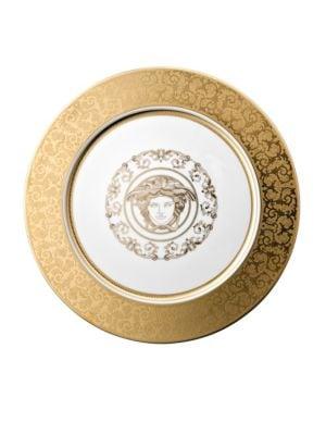Versace Medusa Gala Goldtone Porcelain Charger