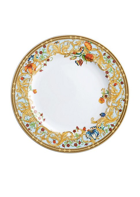 """Image of Add elegance to your dining setting with this charming plate that boasts appealing scroll graphics to go along with delightful floral, ladybird and butterfly prints. Diameter, 10.5"""".Porcelain. Imported."""