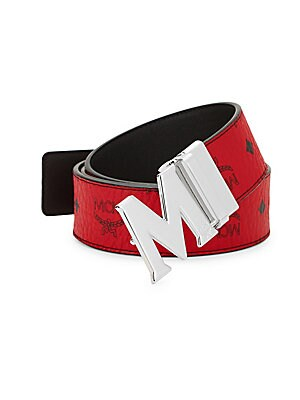 056ca57b8a4d MCM - Claus M Reversible Belt in Black Logo Visetos - saks.com
