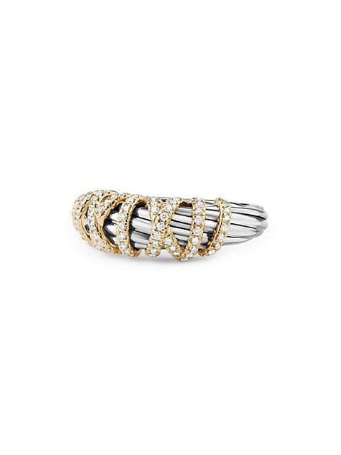 Helena Ring with Diamonds and 18K Gold