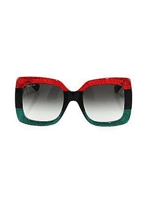 ee6d413231 Gucci - 55MM Oversized Square Colorblock Sunglasses