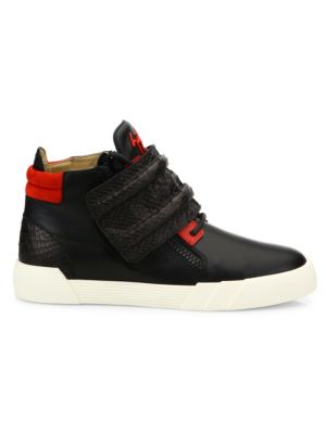 crocodile-strapped-high-top-leather-sneakers by giuseppe-zanotti