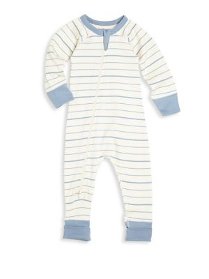 Baby Boys Organic Cotton Striped Coverall