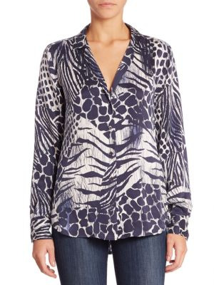Adalyn Animal Printed Blouse by Equipment