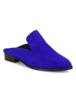 ROBERT CLERGERIE Alicem Electric Blue Suede Mule in Klein