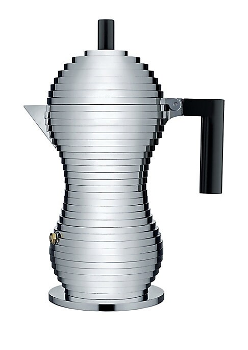 """Image of A revolutionary coffee maker designed with technology to ensure the perfect cup.8""""W x 10""""H.Aluminum casting. Made in Italy."""