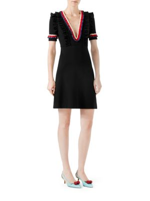 Buy Gucci Ruffled Viscose Jersey Dress online with Australia wide shipping