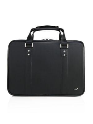 VOCIER F25 Leather Briefcase in Black