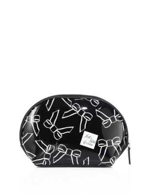 Saks Fifth Avenue  Large Bow Cosmetic Case