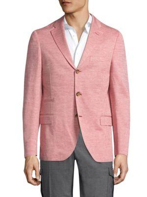Eleventy Cottons Textured Soft Jacket