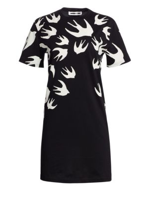 Mcq Alexander Mcqueen Swallow Swarm Dress in Black