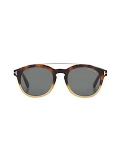 90d4e82d8eaf Tom Ford. Newman 53MM Round Sunglasses