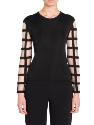 Long Sleeve Knit Top by Giorgio Armani