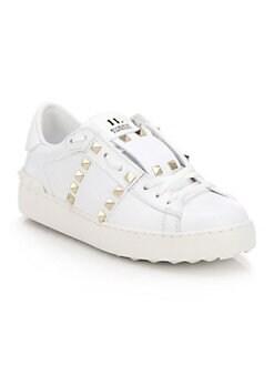 9ca755e25ff2 Valentino Garavani. Rockstud Untitled Leather Sneakers