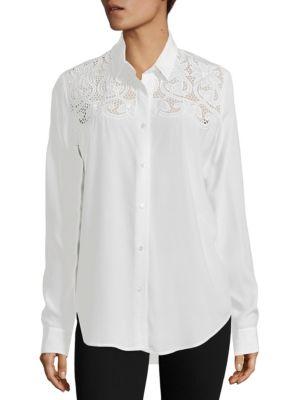 Lace Yoke Shirt by The Kooples