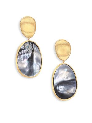 add595a80f59 Marco Bicego Lunaria Black Mother-Of-Pearl   18K Yellow Gold Long Drop  Earrings