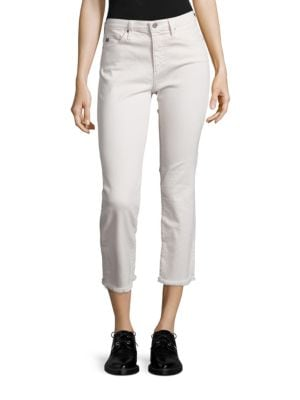 Jodi High-Rise Raw Hem Cropped Flared Jeans by AG