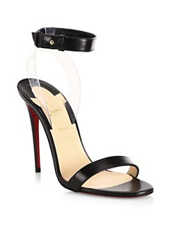 Christian Louboutin - Jonatina 100 Leather & PVC Ankle-Strap Sandals