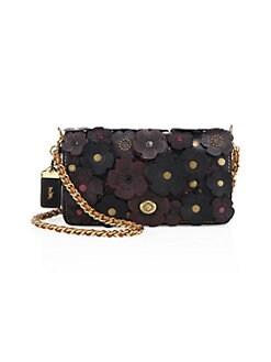 434ce17eb4b QUICK VIEW. COACH. Dinky Tea Rose Leather Crossbody Bag