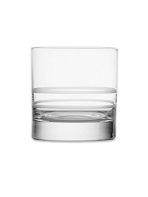 "Image of From the Crafthouse by Fortessa Collection. Etched double old fashioned glasses in brilliant crystal. Set of four Etched measurement markings 3.5""H Crystal Dishwasher safe Imported. Gifts - Barware > Saks Fifth Avenue. Crafthouse."