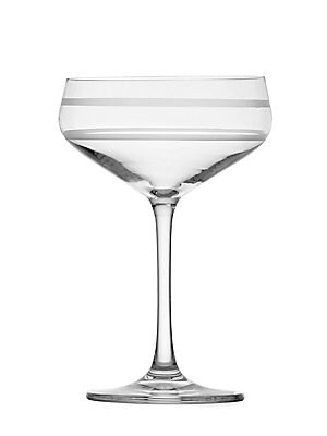 "Image of From the Crafthouse by Fortessa Collection. Etched crystal coupes for elegant entertaining. Set of four 6.5""H Crystal Dishwasher safe Imported. Gifts - Barware > Saks Fifth Avenue. Crafthouse."