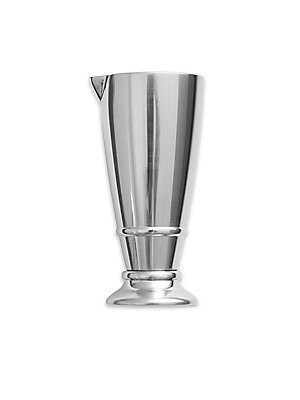 """Image of From the Crafthouse by Fortessa Collection. Bar cart staple in gleaming stainless steel. Inside etched measurements Angled spout 4""""H x 2""""D Stainless steel Dishwasher safe Imported. Gifts - Barware. Crafthouse."""