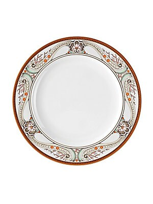 """Image of Nautical motifs in deep sea inspired coloration accentuate the appeal of this alluring dinner plate. Diameter, 10.5"""" Porcelain Dishwasher safe Imported. Gifts - Tabletop. Versace. Color: White."""