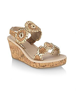 faa7452623a Jack Rogers - Little Girl s   Girl s Miss Luccia Leather Slingback Wedge  Sandals - saks.com
